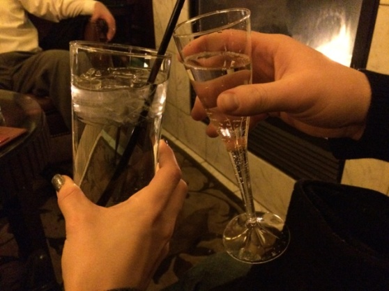 Cheers to 2014! A year filled with new adventure and tiny little things. Mmmm water!