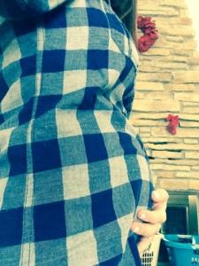 Lumber jack baby bump.