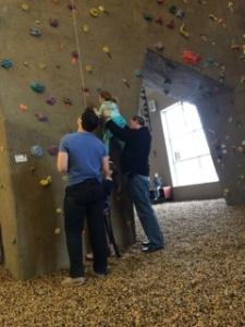 Climbing session.