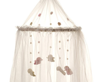 Crib netting with mobile inside...