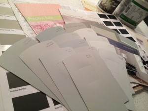 The many paint swatches...