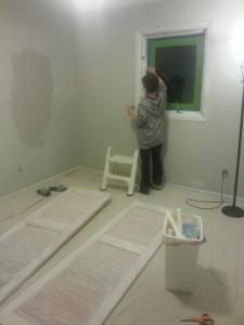 Post-nap paint.