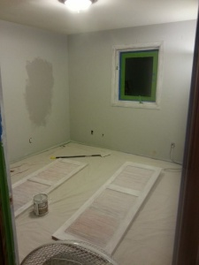 Doors and trim are primed!