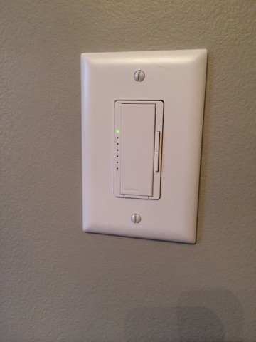 Of course, no nursery is set without a dimmer... so Marky swapped out the old switch for this new fancy dimmer.