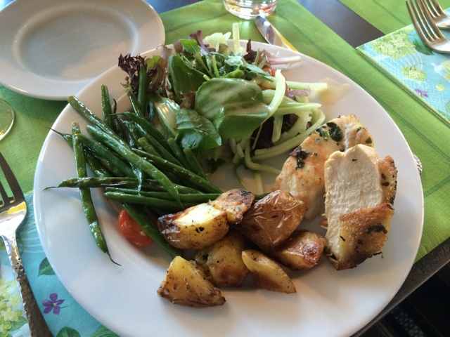 Local food... SO delish! I woke up thinking about those buttery green beans.