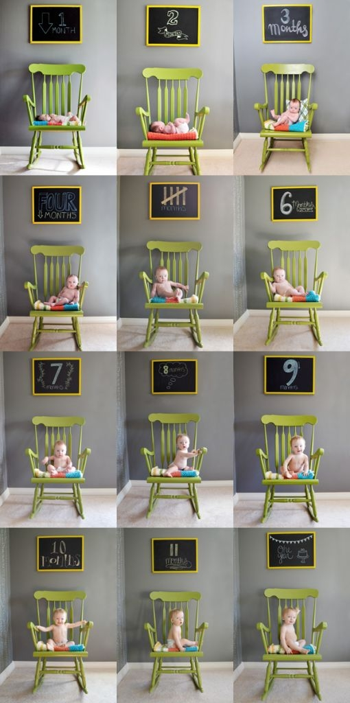 Chair and a chalkboard... another cute one.