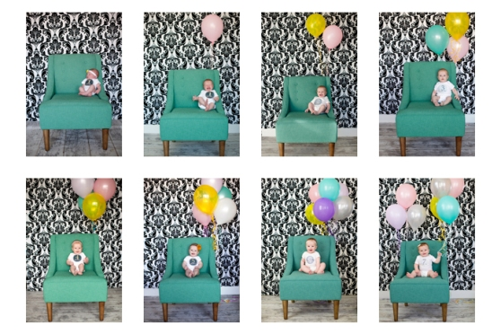 This one is super cute... uses balloons to mark the number of months the baby is. Cute, huh?