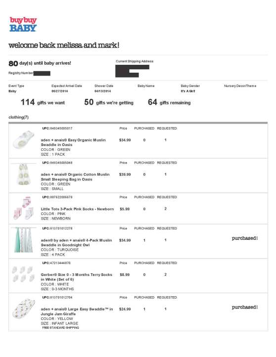 BuyBuy Baby Registry - Page 1
