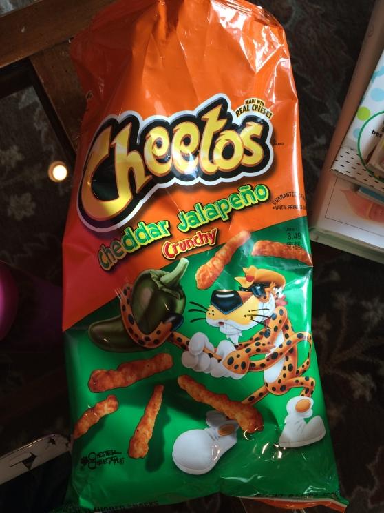 Jalepeno cheetos! My favorite chip!