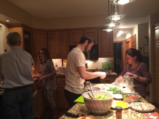 We enjoyed a night of pizza making, GREAT food, and perfect conversation.