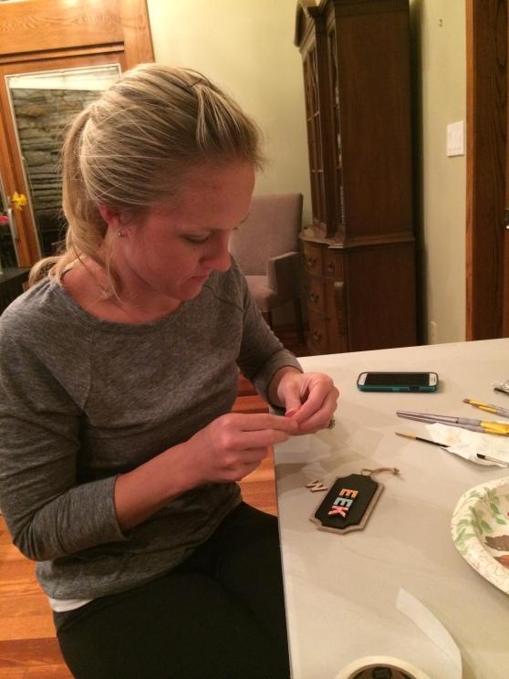 "Adorable Jenna finishing the ""Weeks"" tag..."