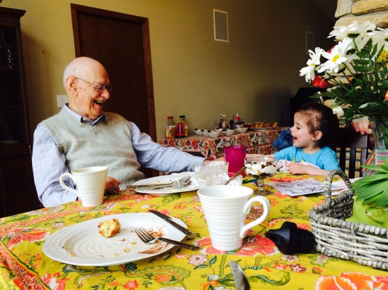 Pop & Gabs laughing it up!