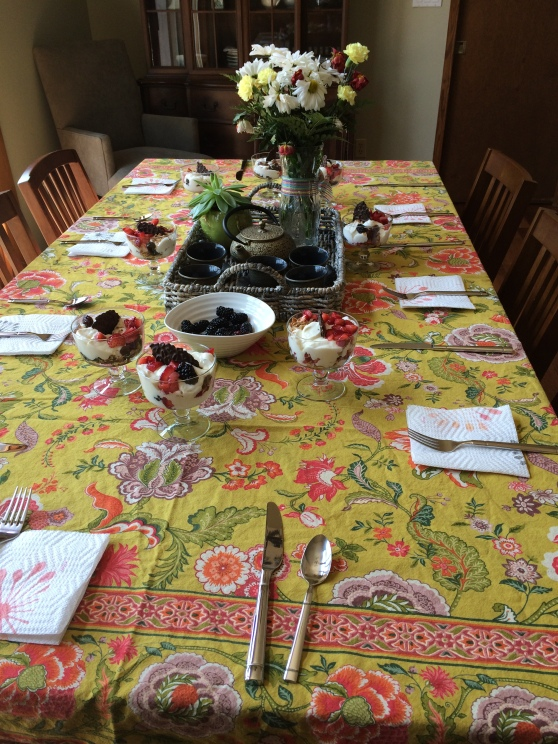 The table set for 8!