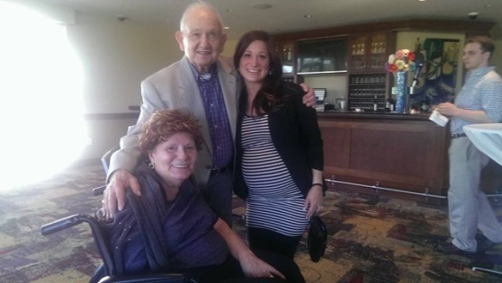 Grandma, Gramps & I at the rehearsal dinner. Grams was doing so well! It was really nice to see... especially since I felt like I had been neglecting the two of them lately with all my focus being on my other gramps.