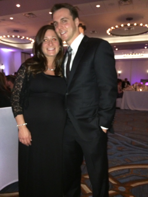 Hubs & I... 9 months prego makes it hard to look good.