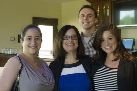 The sister, mom, & I - with a hubs photo bomb!