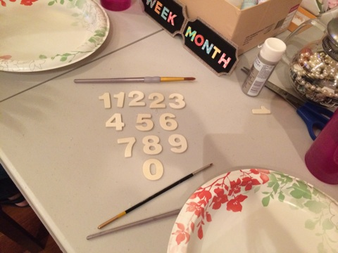"We started with some unpainted, wood numbers (1.25"")."