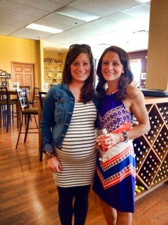 Miss Preggers with the BEAUTIFUL bride-to-be!