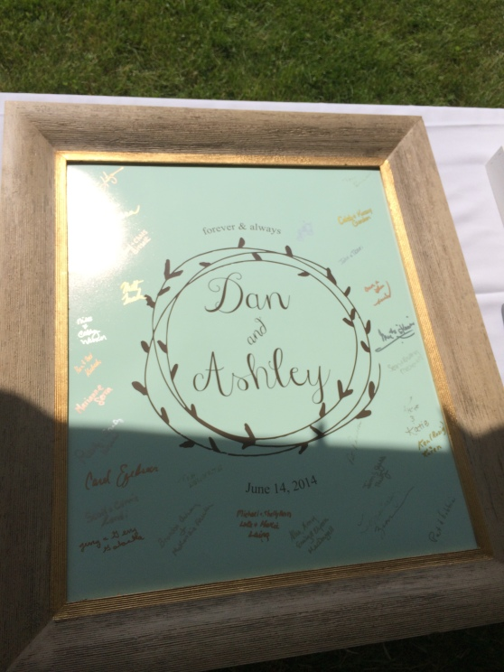 How adorable is this guest book??