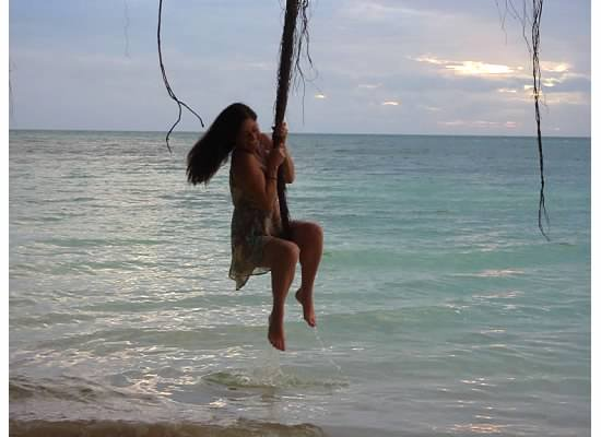 Swinging in Fiji
