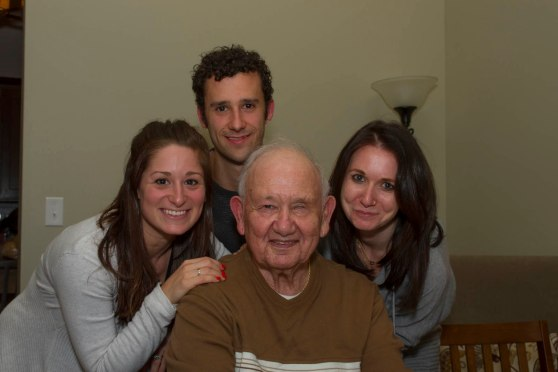 Bro, Cousin & I with Gramps