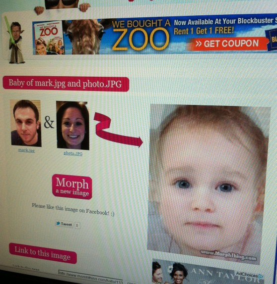 This fake baby kind of has a Charlie vibe... kind of...